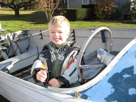 Jake and the boat!